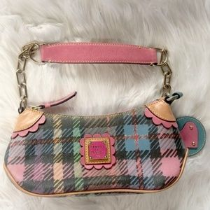 Dooney & Bourke Pastel Plaid Hobo Purse